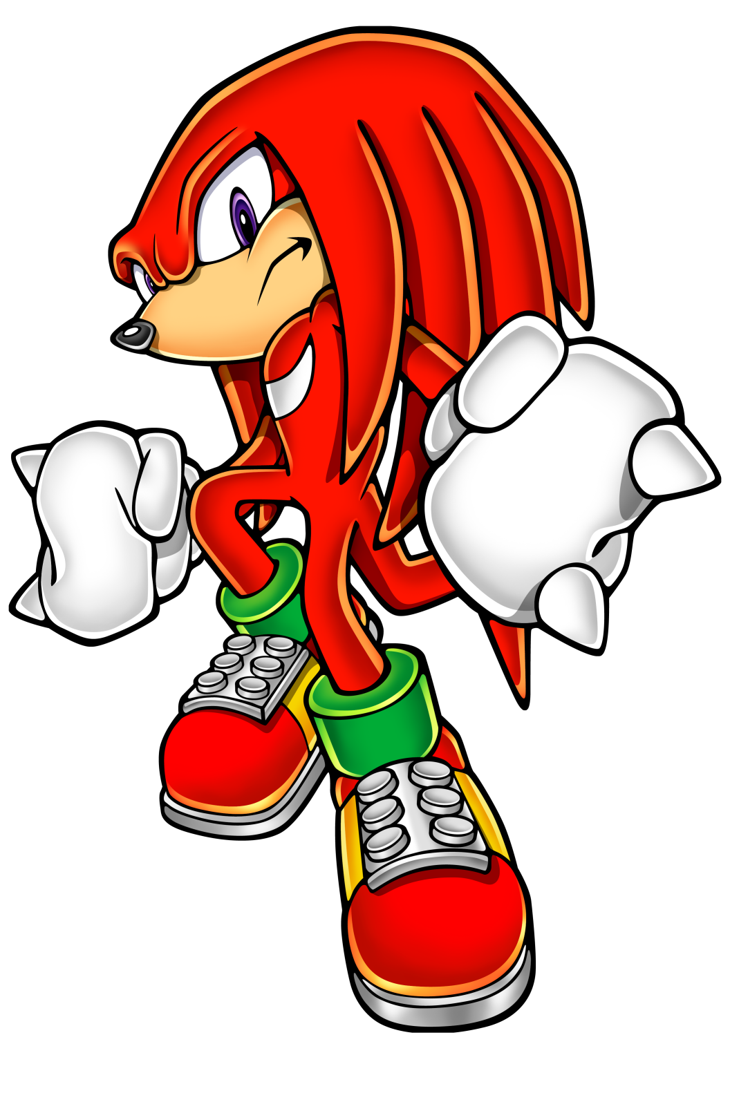 Knuckles the echidna (from Sonic X) Minecraft Skin