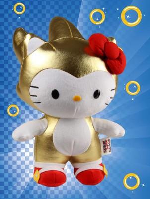 Golden Sonic X Hello Kitty Plush