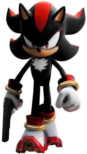 Shadow The Hedgehog — Walking (With Gun)