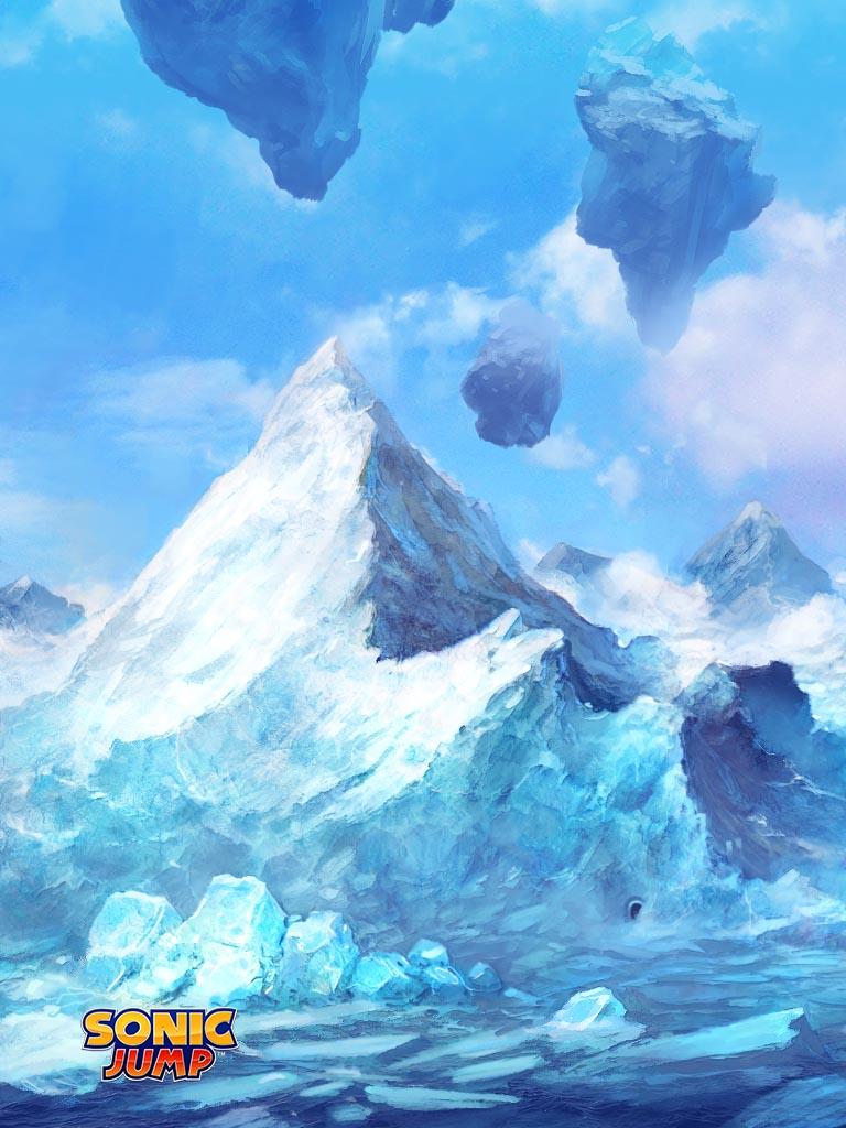 » 1024 x 768 » Sonic Jump (iOS) » Sonic Jump - Mountain Zone
