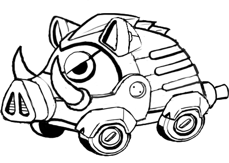 Fullboar Black And White Sonic The Hedgehog 4 Episode 2 Badniks Robots Gallery Sonic Scanf
