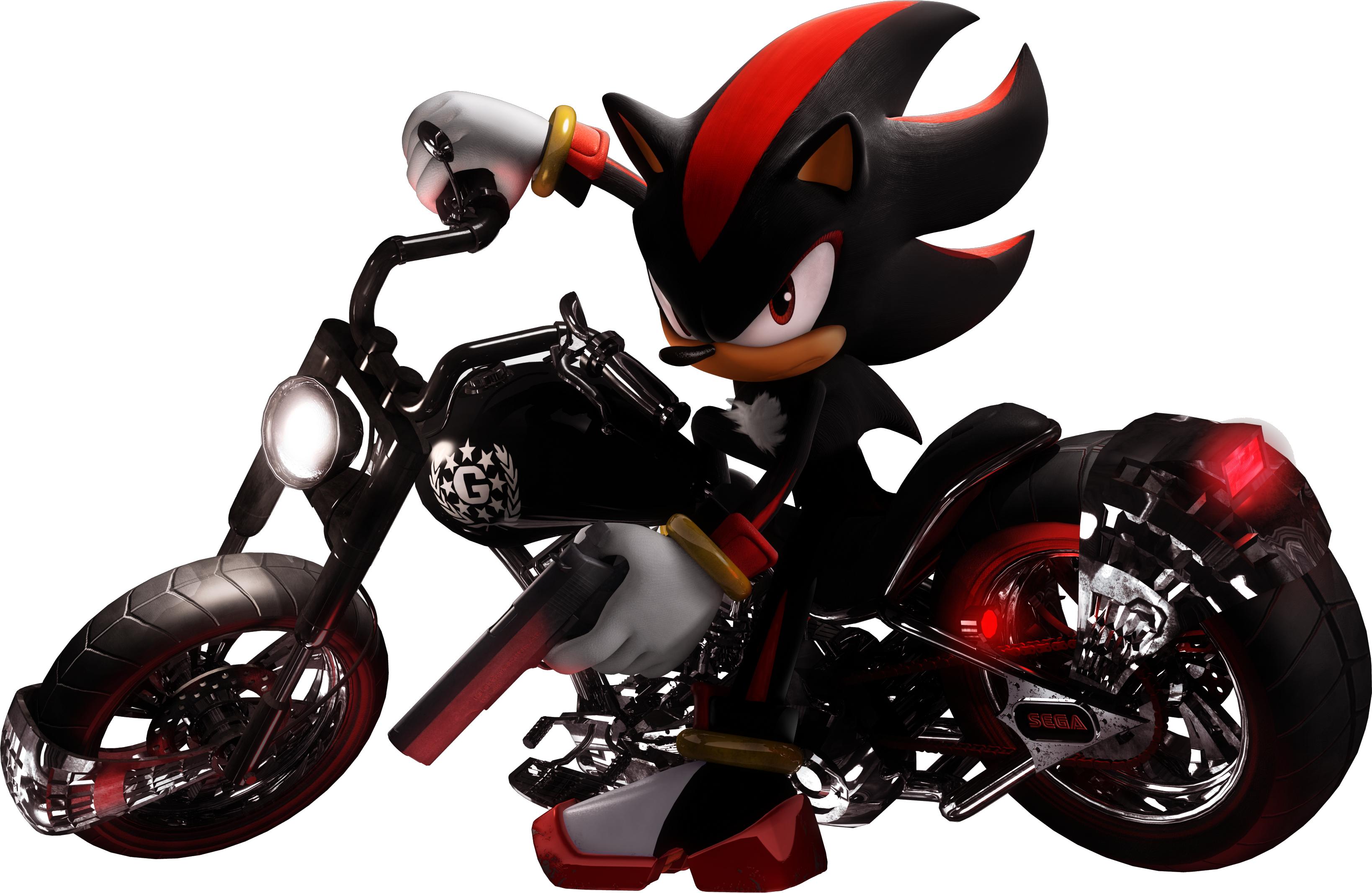 Resultado de imagen de shadow the hedgehog motorcycle