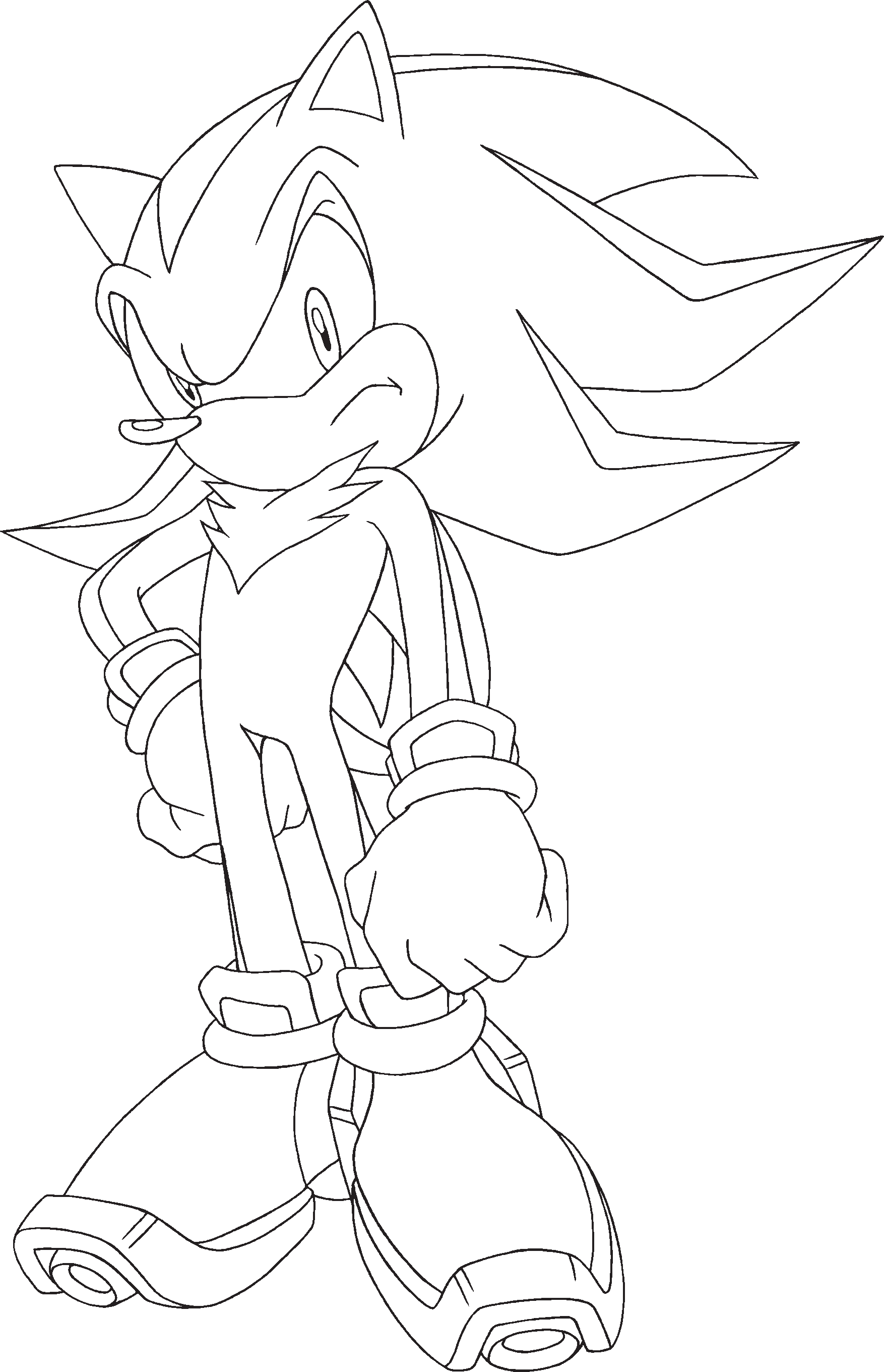 sonic x u2014 signature pose lineart shadow the hedgehog gallery
