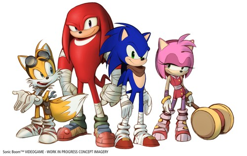 Sonic Boom - Videogame - Sonic, Tails, Knuckles, Amy