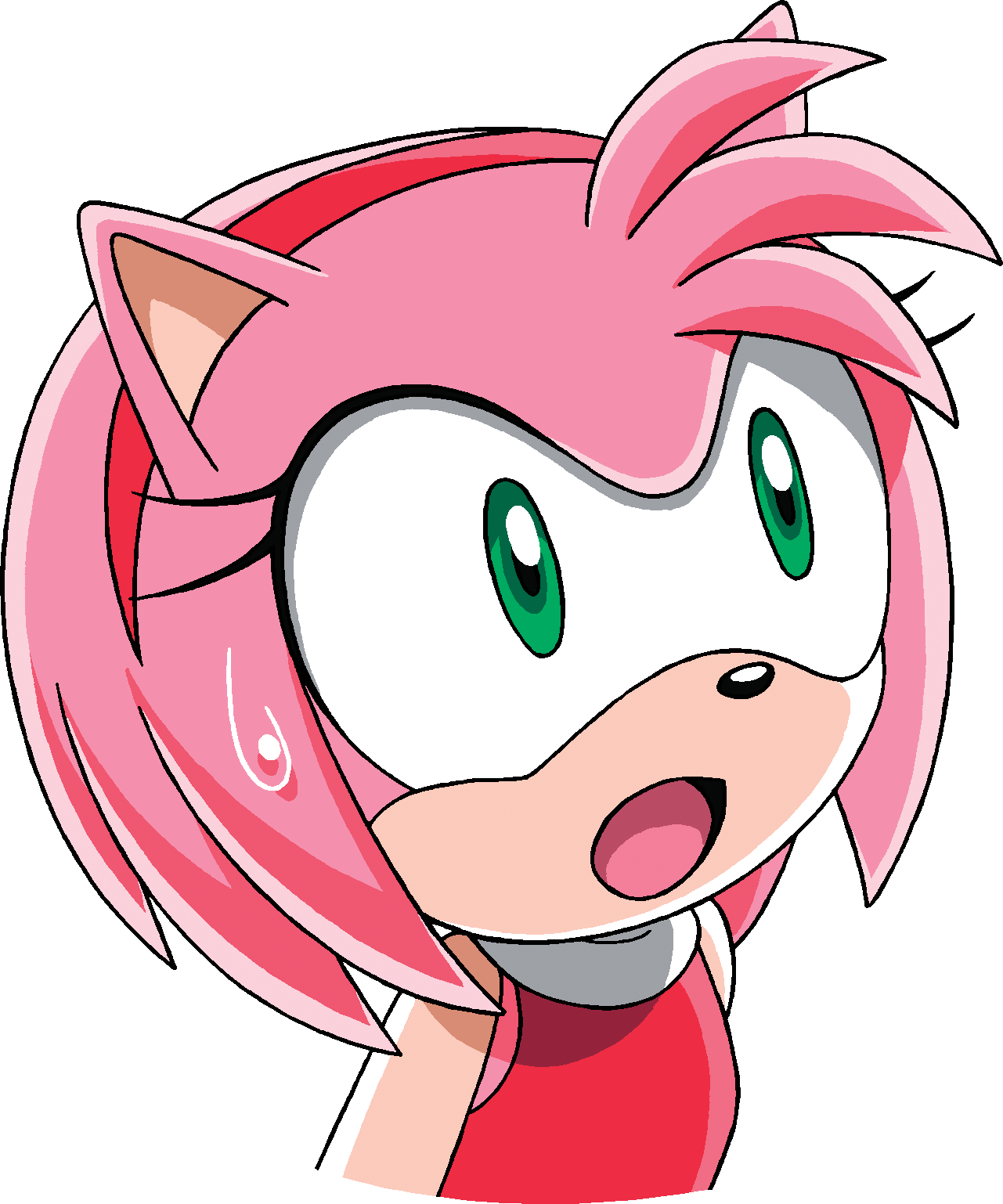 Gallery » Official Art » Amy Rose » Sonic X – Surprise Amy