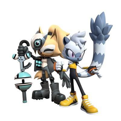Рендеры Виспер и Тэнгл для Sonic Dash