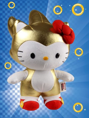 Golden Sonic X Hello Kitty Plush